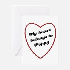 My Heart Belongs to Poppy Greeting Card
