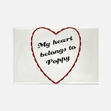 My Heart Belongs to Poppy Rectangle Magnet