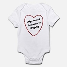 My Heart Belongs to Poppy Baby Onesie