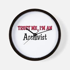 Trust Me I'm an Archivist Wall Clock