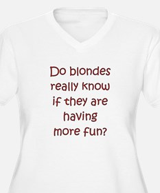 "Funny Blonde ""saying"" T-Shirt"