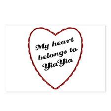 My Heart Belongs to YiaYia Postcards (Package of 8