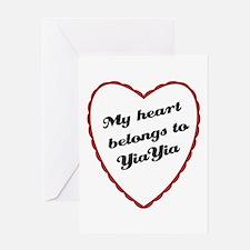 My Heart Belongs to YiaYia Greeting Card