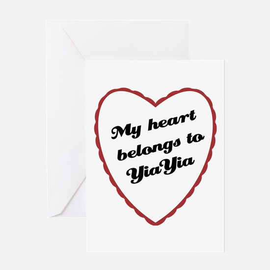 My Heart Belongs to YiaYia Greeting Card