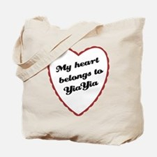 My Heart Belongs to YiaYia Tote Bag
