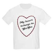 My Heart Belongs to YiaYia T-Shirt