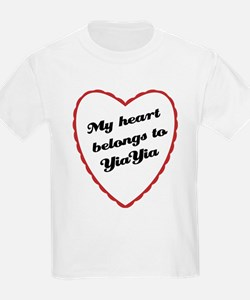 My Heart Belongs to YiaYia T-Shirt