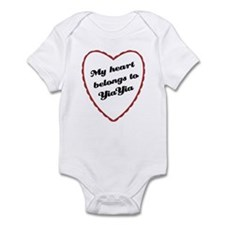 My Heart Belongs to YiaYia Baby Onesie