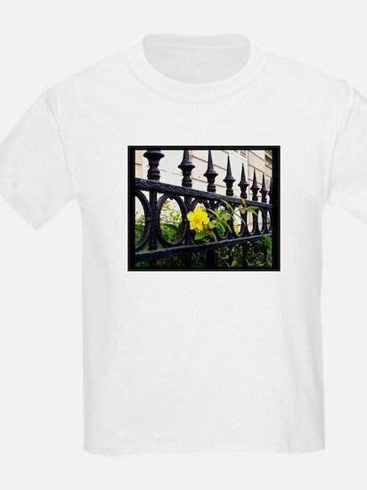 Iron Fence in Paris Kids T-Shirt