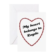 My Heart Belongs to Zayde Greeting Card