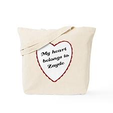 My Heart Belongs to Zayde Tote Bag
