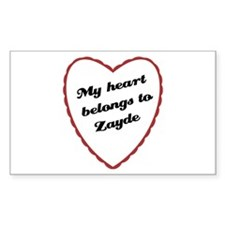 My Heart Belongs to Zayde Rectangle Decal