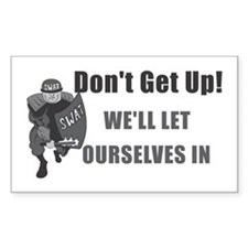 SWAT Dont Get Up Rectangle Decal
