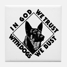 K9 Dogs Bust Tile Coaster