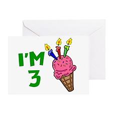 I'm 3 (Ice Cream Cone) Greeting Card