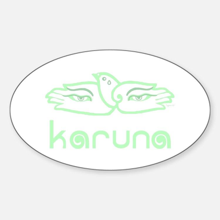 Karuna (Compassion) Oval Decal