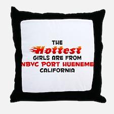 Hot Girls: NBVC Port Hu, CA Throw Pillow