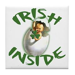 Irish Inside! Tile Coaster