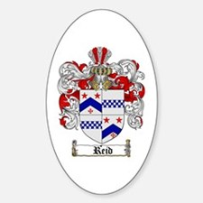 Reid Family Crest Oval Decal