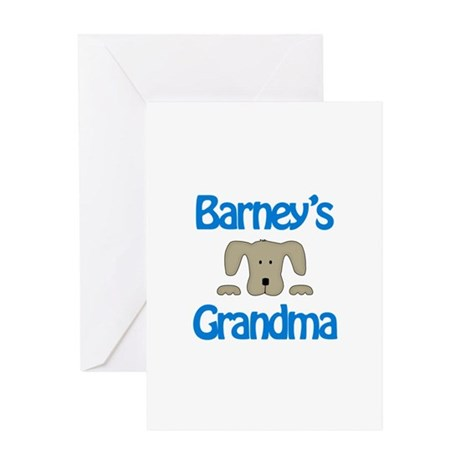 Barney's Grandma Greeting Card