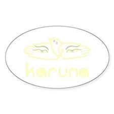 Karuna (Compassion) Oval Decal