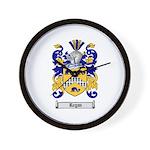 Regan Family Crest Wall Clock