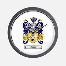 Regan Family Crest Wall Clock