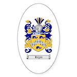 Regan Family Crest Oval Sticker