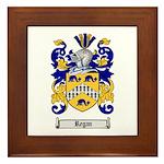 Regan Family Crest Framed Tile