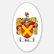 Reed Family Crest Oval Decal