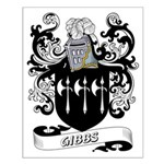 Gibbs Coat of Arms Small Poster