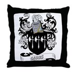 Gibbs Coat of Arms Throw Pillow