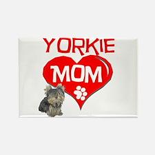 Yorkie Mom Rectangle Magnet (100 pack)