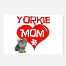 Yorkie Mom Postcards (Package of 8)
