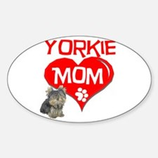 Yorkie Mom Oval Decal