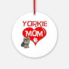 Yorkie Mom Ornament (Round)