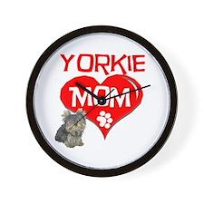 Yorkie Mom Wall Clock