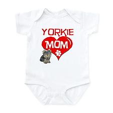 Yorkie Mom Infant Bodysuit