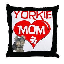 Yorkie Mom Throw Pillow