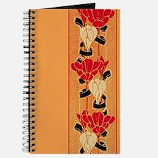 Orange Floral Border Journal