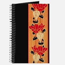Black Floral Border Journal