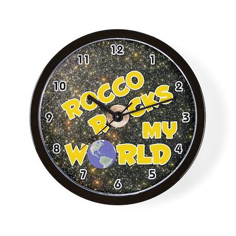 Rocco Rocks My World (Gold) Wall Clock