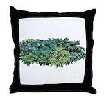 Hosta Clumps Throw Pillow