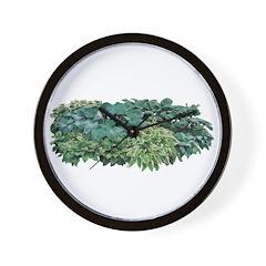 Hosta Clumps Wall Clock