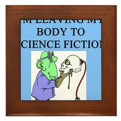 science fiction gifts t-shirt Framed Tile