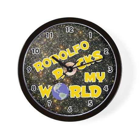 Rodolfo Rocks My World (Gold) Wall Clock