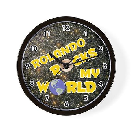 Rolando Rocks My World (Gold) Wall Clock