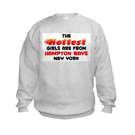Hot Girls: Hampton Bays, NY Kids Sweatshirt