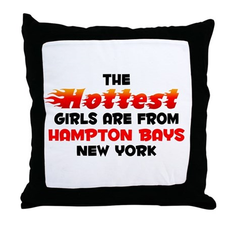 Hot Girls: Hampton Bays, NY Throw Pillow