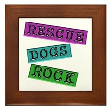 Rescue Dogs Rock Framed Tile
